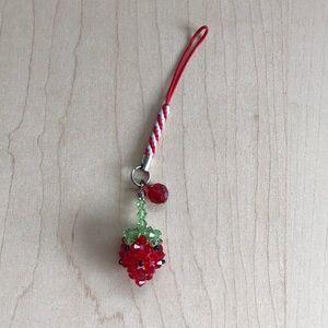 Strawberry keychain